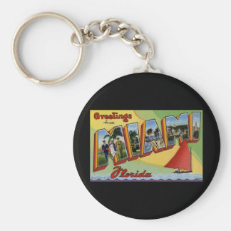 Greetings from Miami Florida Keychain