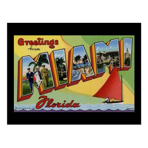 Greetings from Miami Florida Postcard
