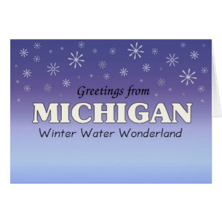 Greetings from michigan greeting cards zazzle greetings from michigan card m4hsunfo