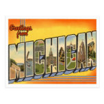vintage, postcard, states, usa, vacation, travel,