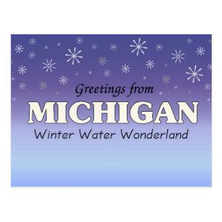 Greetings from Michigan Postcard