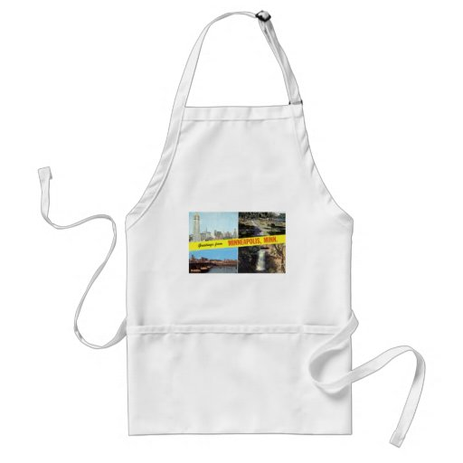 Greetings from Minneapolis 1950s Adult Apron