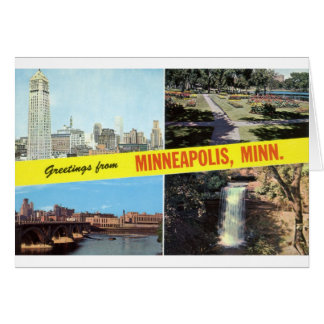 Greetings from Minneapolis 1950s Greeting Card