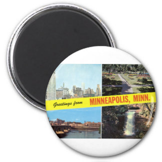Greetings from Minneapolis 1950s Magnet