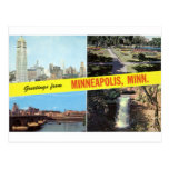 Greetings from Minneapolis 1950s Postcard