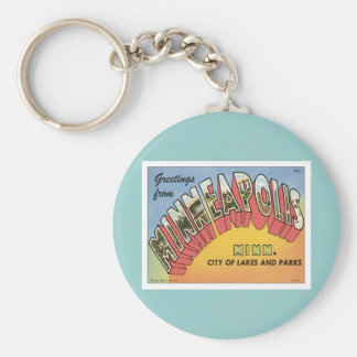 Greetings From Minneapolis Keychains