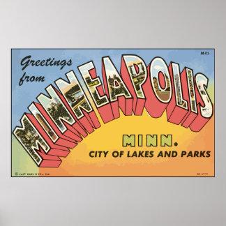 Greetings From Minneapolis Minn., Vintage Print