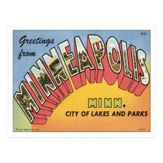 Greetings From Minneapolis Post Cards