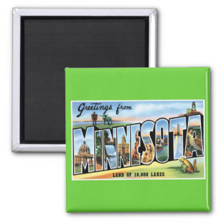Greetings from Minnesota! 2 Inch Square Magnet