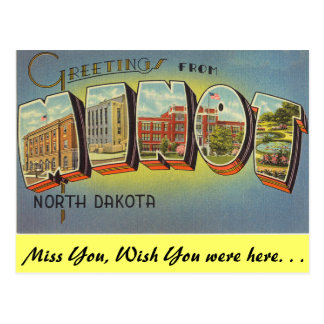 Greetings from Minot Postcard