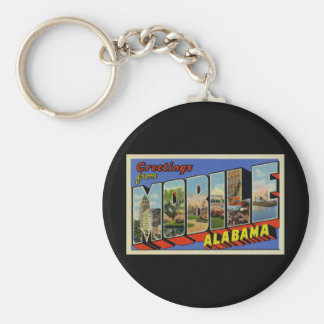 Greetings from Mobile Alabama Basic Round Button Keychain