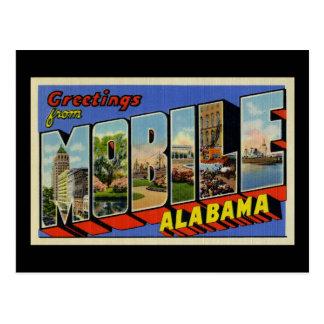 Greetings from Mobile Alabama Postcard