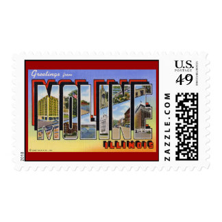 Greetings from Moline Illinois Postage