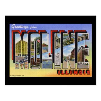 Greetings from Moline Illinois Postcard