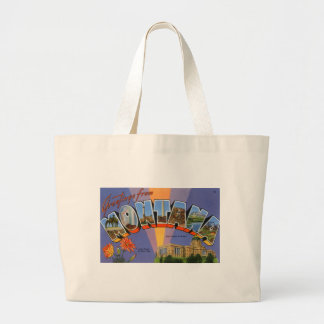 Greetings From Montana Large Tote Bag