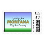 Greetings from Montana Stamp