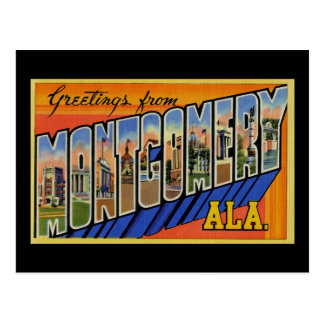 Greetings from Montgomery Alabama Postcard