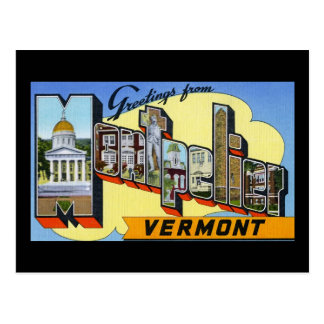 Greetings from Montpelier Vermont Postcard