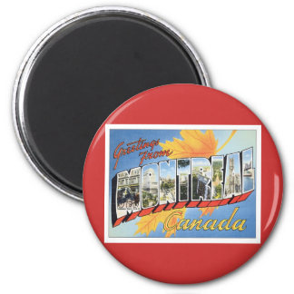 Greetings From Montreal Canada 2 Inch Round Magnet