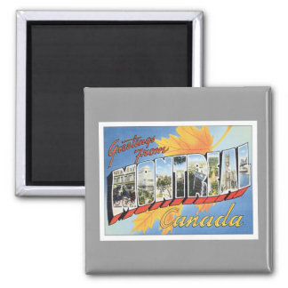 Greetings From Montreal Canada 2 Inch Square Magnet