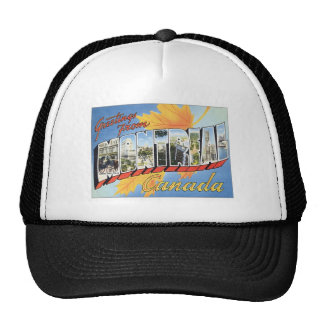 Greetings From Montreal Canada Trucker Hat