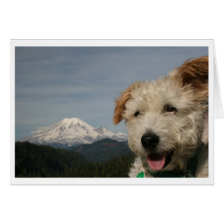 Greetings from Mt. Rainier Stationery Note Card
