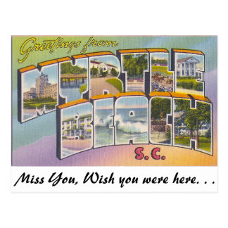 Greetings from Myrtle Beach, South Carolina Postcard