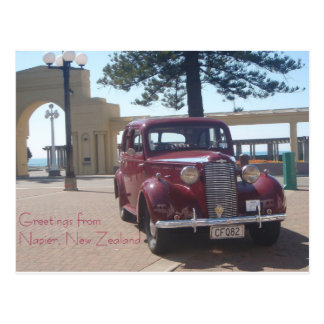 Greetings from Napier, New Zealand Postcard