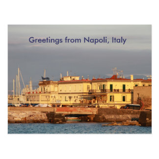 Greetings from Napoli, Italy Postcard
