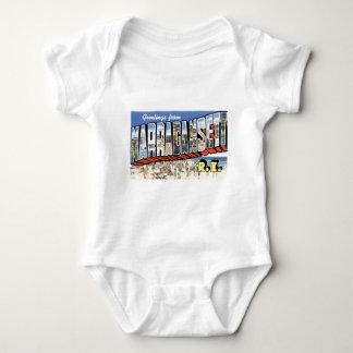 Greetings from Narragansett, Rhode Island! Retro Baby Bodysuit