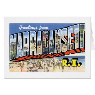 Greetings from Narragansett, Rhode Island! Retro Card