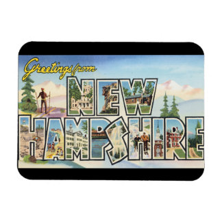 Greetings from New Hampshire_Vintage Travel Magnet