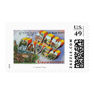 Greetings From New Haven, CT Postage Stamp