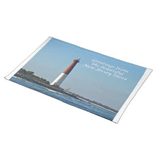 Greetings From New Jersey - Barnegat Light Cloth Place Mat