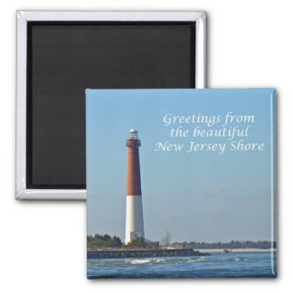 Greetings From New Jersey - Barnegat Light Magnet