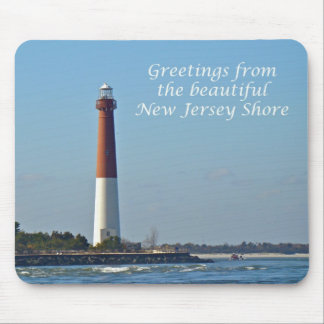 Greetings From New Jersey - Barnegat Light Mouse Pad