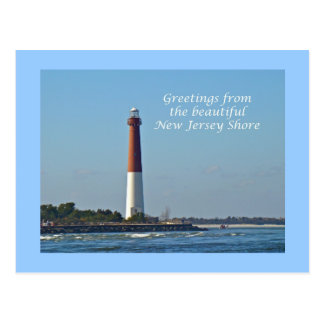 Greetings From New Jersey - Barnegat Light Postcard