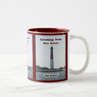 "Greetings From New Jersey NJ ""Old Barney"" Mug"