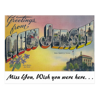 Greetings from New Jersey Post Cards