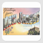 Greetings From New Jersey Square Sticker