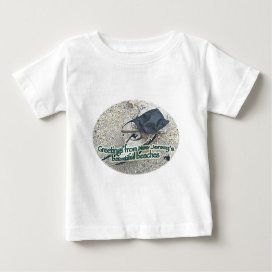 Greetings From New Jersey's Beautiful Beaches Baby T-Shirt