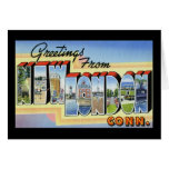 Greetings from New London Connecticut Greeting Card