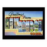 Greetings from New London Connecticut Postcard