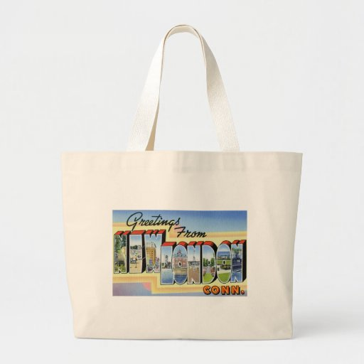 Greetings from New London Connecticut Tote Bag