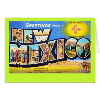 Greetings from New Mexico Card