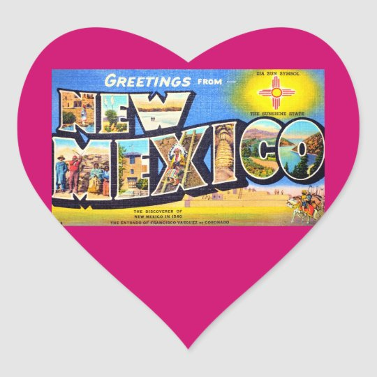 Greetings from New Mexico Heart Sticker