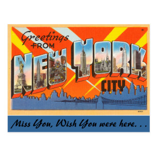 Greetings from New York City Postcard