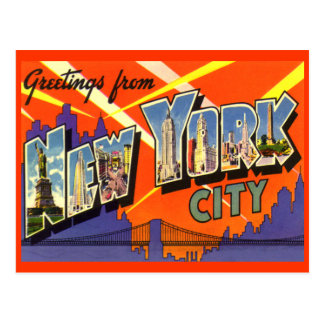 Greetings from New York City Postcard Post Card
