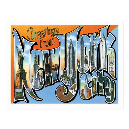 Greetings from new york city us city postcard zazzle greetings from new york city us city postcard m4hsunfo