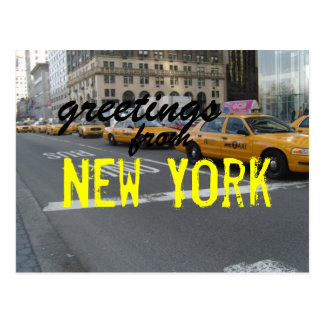 Greetings from New York post card